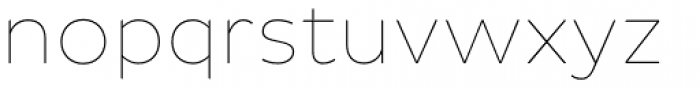 Pluto Sans Thin Font LOWERCASE