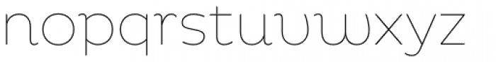 Pluto Thin Font LOWERCASE