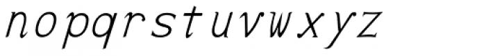 Pluton Italic Font LOWERCASE