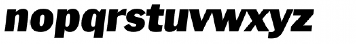 Plymouth Serial Black Italic Font LOWERCASE