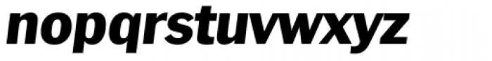 Plymouth Serial Heavy Italic Font LOWERCASE