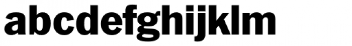Plymouth Serial Heavy Font LOWERCASE