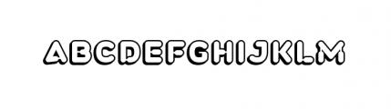 Plastek LeftShadow Font UPPERCASE