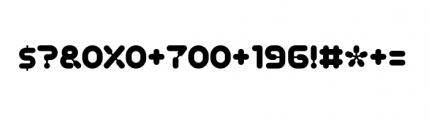 Plastek Regular Font OTHER CHARS