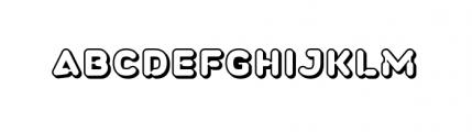 Plastek Right Shadow Font UPPERCASE