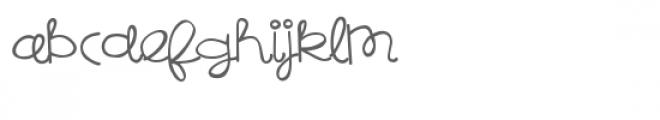 pn bread pudding script Font LOWERCASE