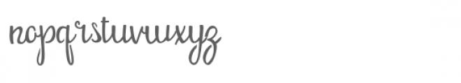 pn butternut stencil Font LOWERCASE