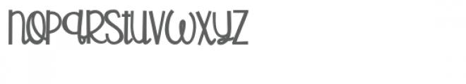 pn copyright script bold Font LOWERCASE