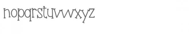 pn fudgie sticks Font LOWERCASE