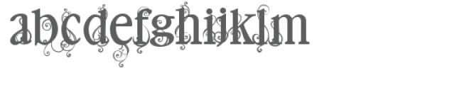 pn swirlionaire acorn Font LOWERCASE