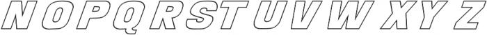 POSTER Outline Italic otf (400) Font LOWERCASE