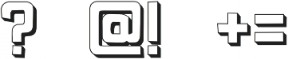 Pocket Knife 3-D otf (400) Font OTHER CHARS