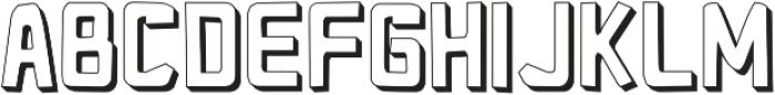 Pocket Knife 3-D otf (400) Font LOWERCASE