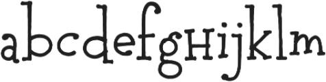 Pocket Serif Px otf (400) Font LOWERCASE