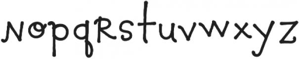 Pocket Swash otf (400) Font LOWERCASE