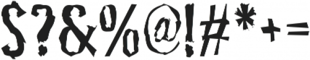 Pocus Primera Distorted otf (400) Font OTHER CHARS