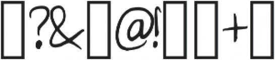 Poffertje Regular otf (400) Font OTHER CHARS