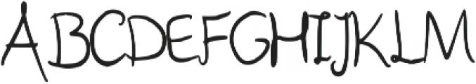 Poffertje Regular otf (400) Font UPPERCASE