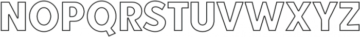 Point Panther Outline otf (400) Font UPPERCASE