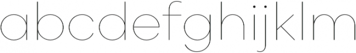 Point Soft Hairline otf (100) Font LOWERCASE