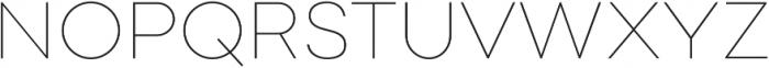 Point Thin otf (100) Font UPPERCASE