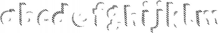 Polina Fill Striped otf (400) Font LOWERCASE