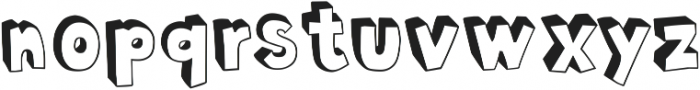 Polina Inverse otf (400) Font LOWERCASE