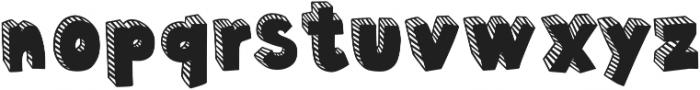 Polina Striped otf (400) Font LOWERCASE