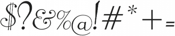 Pompeian Cursive Regular otf (400) Font OTHER CHARS