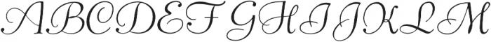 Pompeian Cursive Regular otf (400) Font UPPERCASE