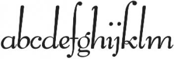 Pompeian Cursive Regular otf (400) Font LOWERCASE