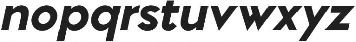 Pontiac Black Italic otf (900) Font LOWERCASE