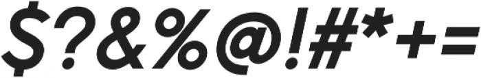 Pontiac Bold Italic otf (700) Font OTHER CHARS