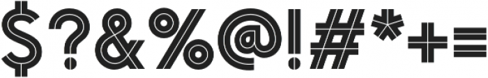 Pontiac Inline Regular otf (400) Font OTHER CHARS