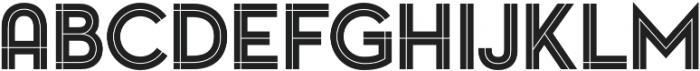 Pontiac Inline Regular otf (400) Font UPPERCASE