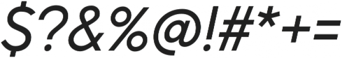 Pontiac Regular Italic otf (400) Font OTHER CHARS