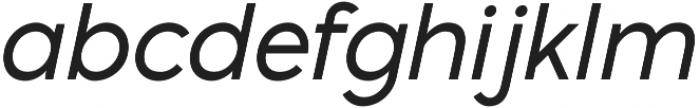 Pontiac Regular Italic otf (400) Font LOWERCASE