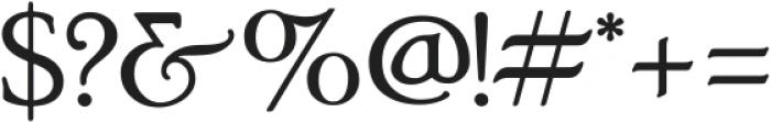 Poor Richard ttf (400) Font OTHER CHARS