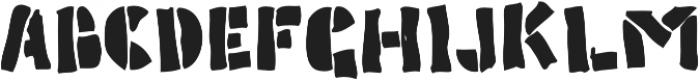 Poozer otf (400) Font UPPERCASE