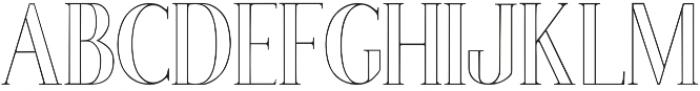 Poppy Lined Regular otf (400) Font LOWERCASE