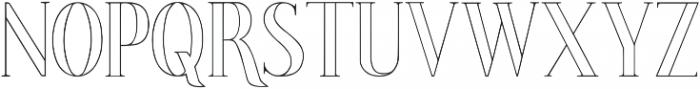 Poppy Lined Regular ttf (400) Font LOWERCASE