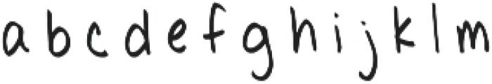 Poppycock PF otf (400) Font LOWERCASE