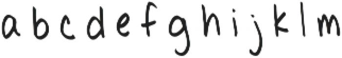 Poppycock PF ttf (400) Font LOWERCASE
