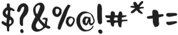 Popsicle otf (400) Font OTHER CHARS