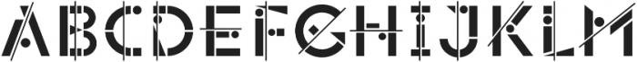 Popsky Regular otf (400) Font LOWERCASE