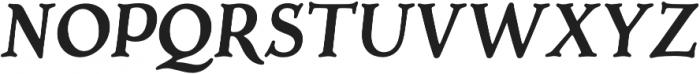 Porchlight SemiBold Italic otf (300) Font UPPERCASE