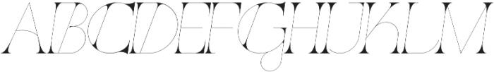 Port Vintage Regular otf (400) Font UPPERCASE