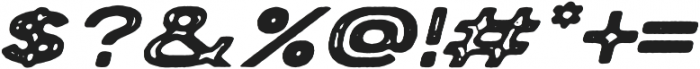 Porter Rough FT Oblique otf (400) Font OTHER CHARS