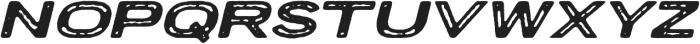 Porter Rough FT Oblique otf (400) Font UPPERCASE