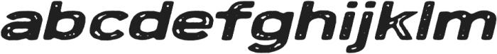 Porter Rough FT Oblique otf (400) Font LOWERCASE